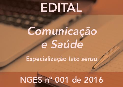 Comunicação e Saúde 2016