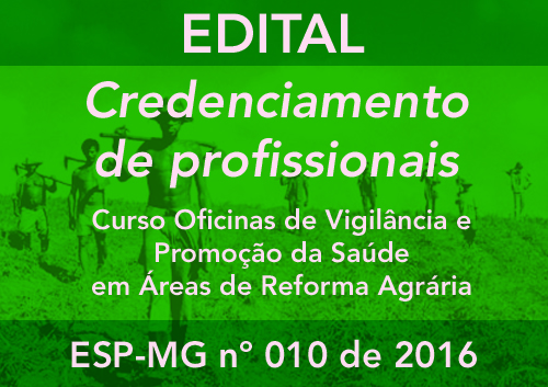 CREDENCIAMENTO ESP-MG Nº 010/2016