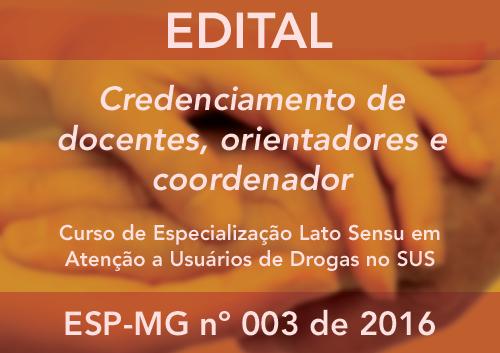 CREDENCIAMENTO ESP-MG Nº 03/2016