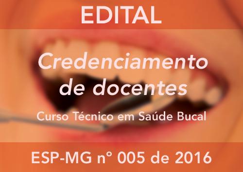 CREDENCIAMENTO ESP-MG Nº 005/2016