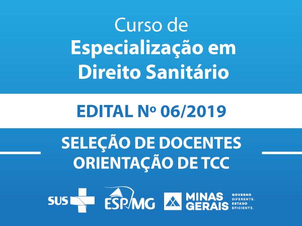 Credenciamento ESP-MG 006/2019 -  Direito Sanitário